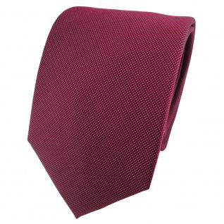Satin Seidenkrawatte rot weinrot bordeaux silber gepunktet - Krawatte Seide Tie