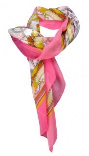 Gr Halstuch pink lila rot rosa gelb grau Paisley gemustert 105 cm x 105 cm