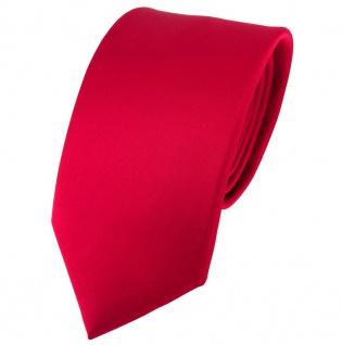 Modische TigerTie Satin Seidenkrawatte in rot einfarbig - Krawatte 100% Seide