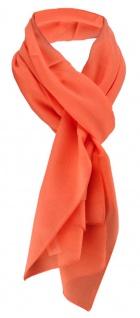 TigerTie Damen Chiffon Halstuch orange Uni Gr. 160 cm x 36 cm - Schal