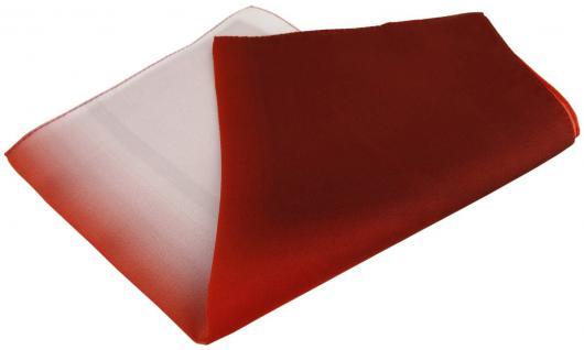 Multi TigerTie Designer Seideneinstecktuch in rot weinrot weiss grau Uni
