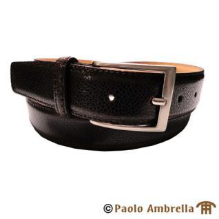 Ledergürtel dunkelbraun bombiert- Leder Gürtel kürzbar Bundweite 110 cm