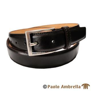 Ledergürtel dunkelbraun bombiert - Leder Gürtel kürzbar Bundweite 110 cm