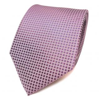 Seidenkrawatte lila flieder pastellviolett silber gemustert -Krawatte 100% Seide