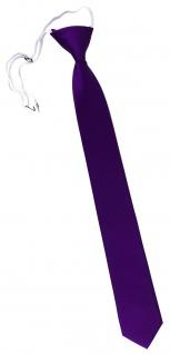 XXL TigerTie Security Sicherheits Krawatte in lila violett einfarbig Uni