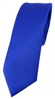 schmale TigerTie Designer Krawatte in royal einfarbig Uni - Tie Schlips