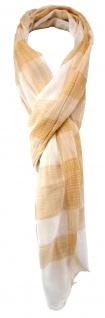 TigerTie Schal in lachs weiß gemustert mit kleinen Fransen - Gr. 190 x 50 cm