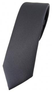 schmale TigerTie Designer Krawatte in anthrazit einfarbig Uni - Tie Schlips