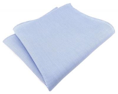 TigerTie Plastron Pique 2tlg Krawatte + Einstecktuch in hellblau-weiss gemustert - Vorschau 3