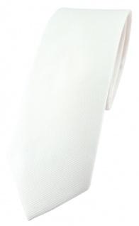 schmale TigerTie Krawatte cremeweiss Uni - 100% Baumwolle - Krawattenbreite 6 cm