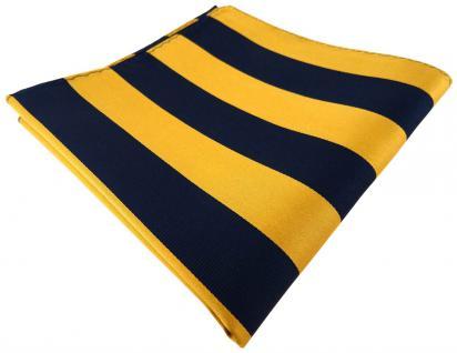 TigerTie Seideneinstecktuch in gelb gold gelbgold royal gestreift -100% Seide