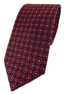 XXL TigerTie Krawatte in rot blau silber schwarz gemustert - 175 x 8, 5 cm