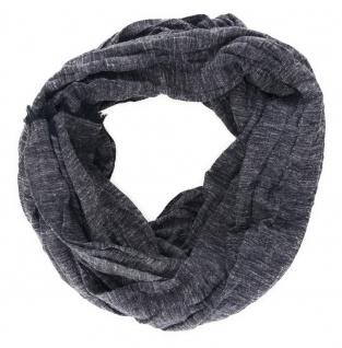 gecrashter Schal in schwarz anthrazit Uni mit kleinen Fransen - Gr. 180 x 50 cm