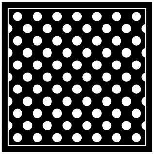 TigerTie Seiden Nickituch Satin in schwarz weiss gepunktet - Größe 50 x 50 cm