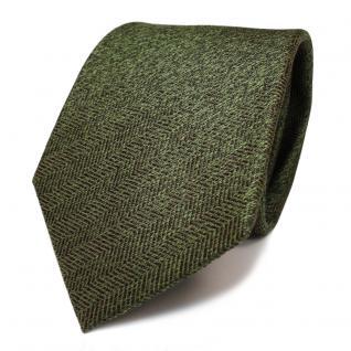 Designer Seidenkrawatte grün grasgrün dunkelgrün gemustert - Krawatte