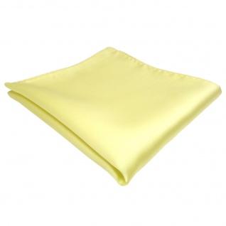 TigerTie Einstecktuch gelb blassgelb einfarbig - Tuch Polyester