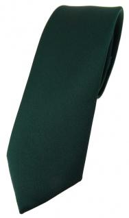 schmale TigerTie Designer Krawatte in dunkelgrün einfarbig Uni - Tie Schlips