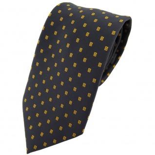 TigerTie Krawatte schwarz braun ocker gepunktet mit Karos - Tie Binder