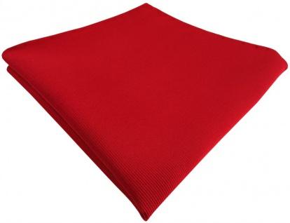 TigerTie Seideneinstecktuch in rot feuerrot einfarbig rips struktur - 100% Seide