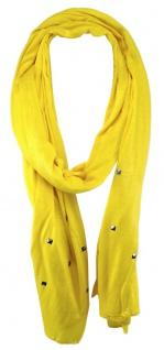 TigerTie Schal in gelb einfarbig mit Nieten gemustert