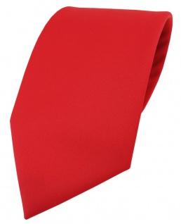 Extra breite TigerTie Satin Krawatte in rot Uni einfarbig - Schlips Binder Tie