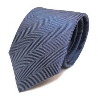 Seidenkrawatte blau dunkel blaugrau gemustert - Krawatte Seide Silk Tie