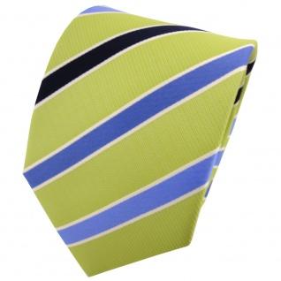 TigerTie Designer Krawatte grün blau kobaltblau silber gestreift - Tie Binder