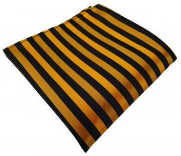TigerTie Einstecktuch bronze schwarz gestreift - Tuch Polyester Gr. 25 x 25 cm