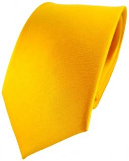 TigerTie Designer Satin Seidenkrawatte gelb goldgelb Uni - Krawatte Seide Silk