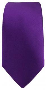schmale TigerTie Satin Seidenkrawatte lila violett Uni - Tie Krawatte 100% Seide - Vorschau 2