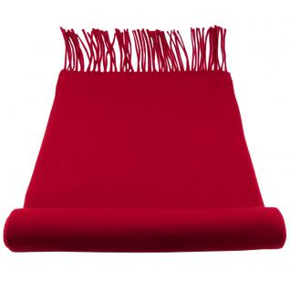 Feiner TigerTie Designer Schal in rot verkehrsrot dunkelrot Uni - Cashmink
