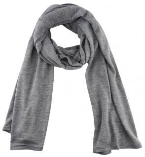 TigerTie - Schal in grau einfarbig Uni - Größe 180 x 30 cm - 100% Viscose