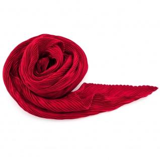 Damen Satin Raffschal dehnbar rot dunkelrot ca. 80 x 70 cm - Tuch Halstuch Schal