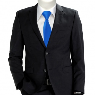 XXL TigerTie Security Sicherheits Krawatte in himmelblau hellblau einfarbig Uni - Vorschau 2