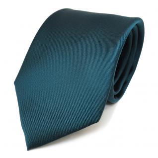 TigerTie Designer Krawatte in grün dunkelgrün uni fein Rips Polyester