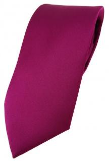 TigerTie Designer Krawatte in magenta einfarbig Uni - Tie Schlips