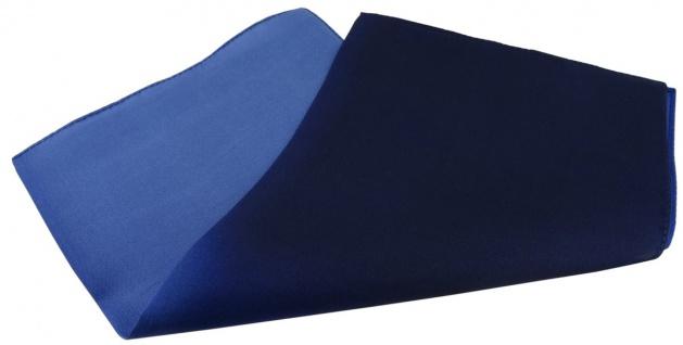 Multi TigerTie Designer Seideneinstecktuch in dunkelblau marine royal blau Uni