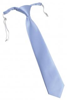 TigerTie Designer Security Sicherheits Krawatte in hellblau Uni mit Gummizug