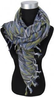 Halstuch blau silber schwarz m. Fransen - Glitzerfäden eingearbeitet- 90 x 90 cm - Vorschau 2