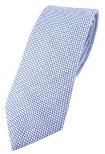 schmale TigerTie Designer Krawatte Pique blau-weiss gemustert - 100% Baumwolle