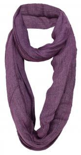 TigerTie Designer Loop Schal in violett Uni - Gr. 140 x 50 cm - Rundschal