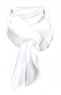 TigerTie Damen Chiffon Halstuch weiß schneeweiß Uni Gr. 80 cm x 80 cm - Schal