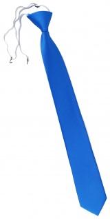 XXL TigerTie Security Sicherheits Krawatte in himmelblau hellblau einfarbig Uni - Vorschau 1
