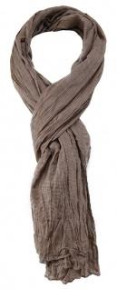 TigerTie Designer Schal in graubraun einfarbig - Gr. 180 x 50 cm
