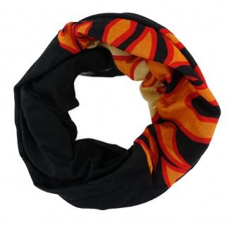 TigerTie Multifunktionstuch rot orange schwarz Flammen - Tuch Schal Schlauchtuch