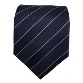 TigerTie Designer Krawatte - Schlips Binder blau dunkelblau gestreift - Tie - Vorschau 3