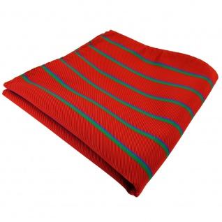 TigerTie Einstecktuch rot grün blau gestreift - Tuch 100% Polyester