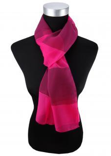 Damen Chiffon Halstuch magenta pink lila gestreift 165 cm x 40 cm - Tuch Schal