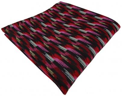 TigerTie Einstecktuch in rosa rot silber gold schwarz gestreift gemustert - Tuch