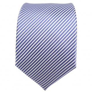 TigerTie Designer Seidenkrawatte blau fernblau weiß gestreift - Krawatte Seide - Vorschau 2